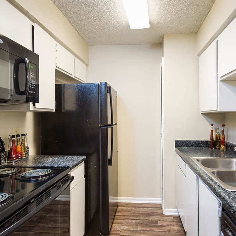 Upgraded kitchen at Woods of Elm Creek in San Antonio