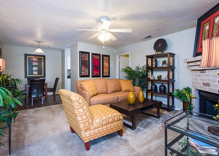 Open floor plans at Woods of Elm Creek in San Antonio
