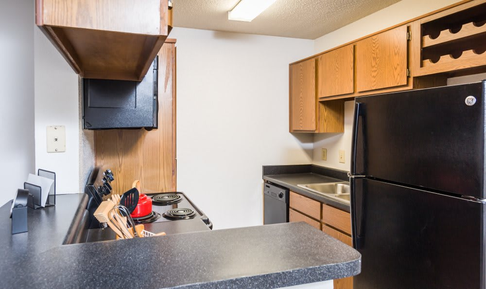 Granite countertops in our apartments at Fountainhead in San Antonio