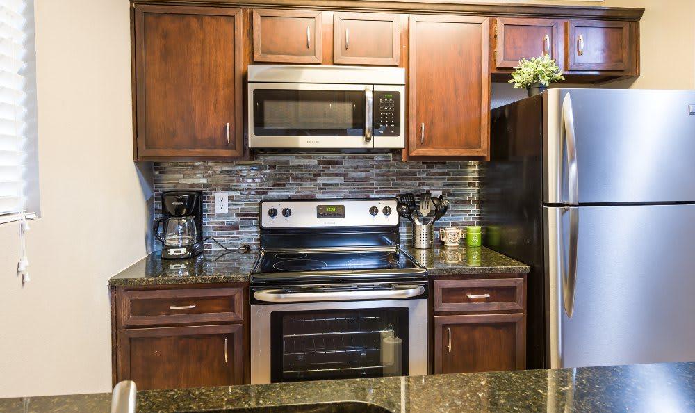 Upgraded kitchen at Fountainhead in San Antonio
