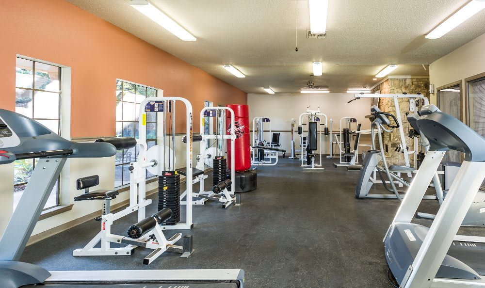 Fitness center at Fountainhead in San Antonio
