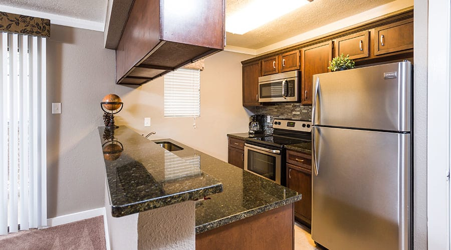 upgraded kitchen at Fountainhead