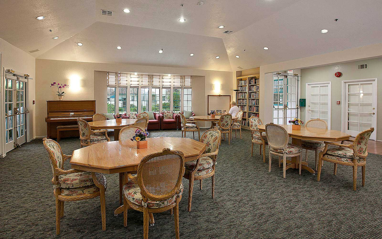 Large Gathering Room In The Clubhouse at Rancho Franciscan Senior Apartments in Santa Barbara, CA