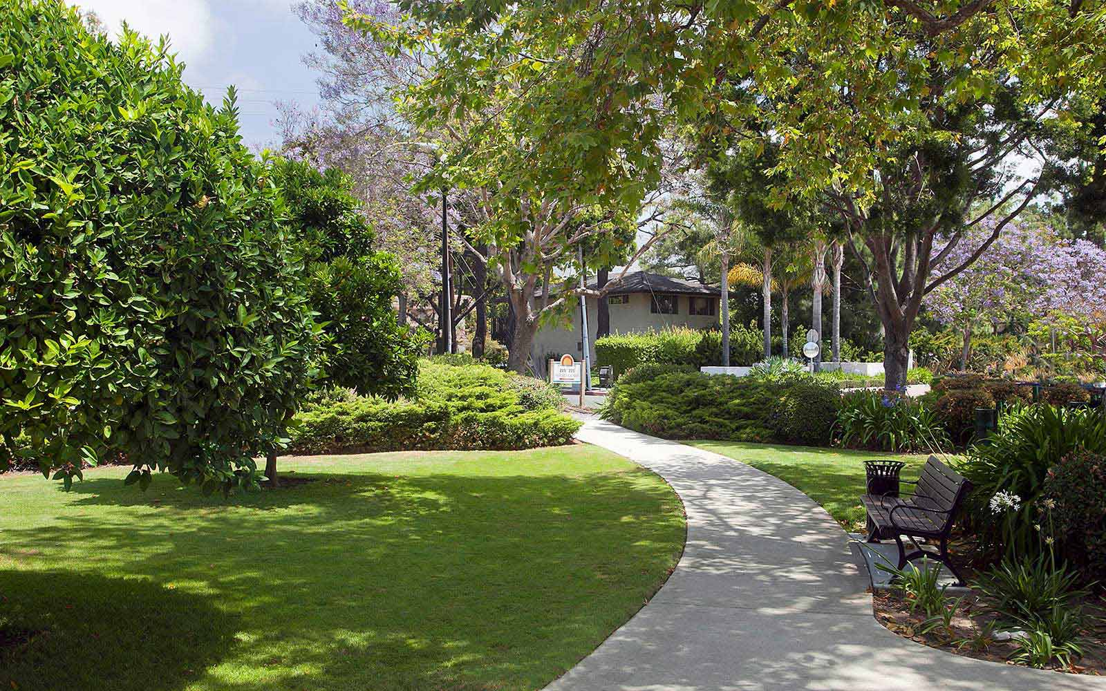 Park Like Landscaping at Rancho Franciscan Senior Apartments in Santa Barbara, CA