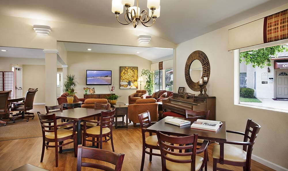 Clubhouse Tables And Chairs at Shepard Place Apartments in Carpinteria, CA