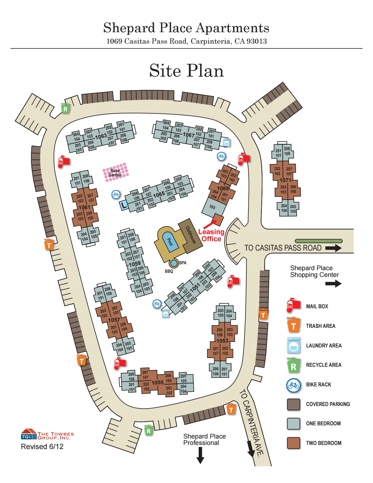 Site map of Shepard Place Apartments