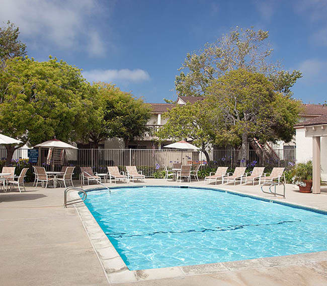 Take a swim in our sparkling pool at Shepard Place Apartments