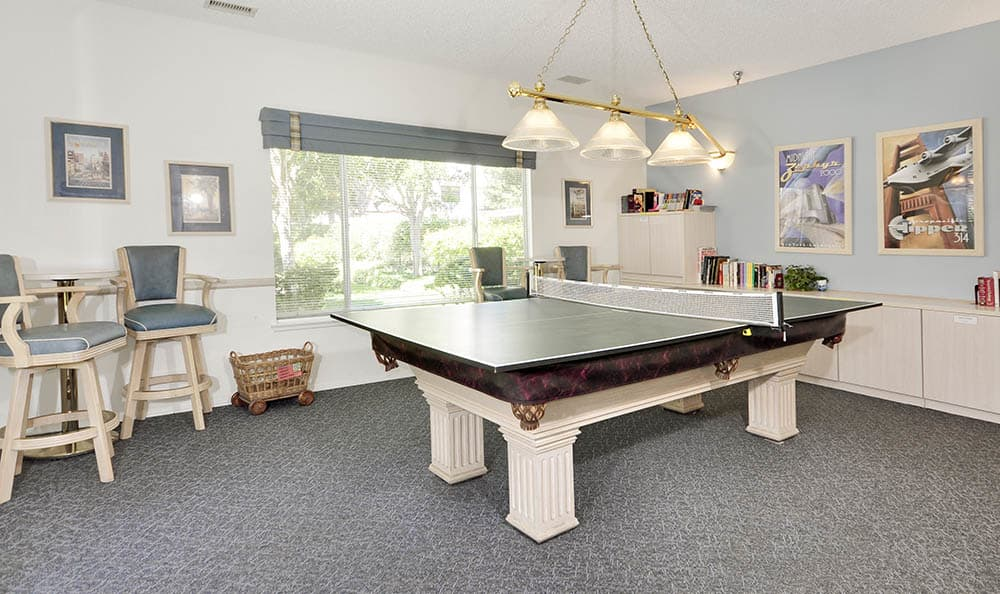 Ping Pong Table In The Rec Room at Cypress Meadows Senior Apartments in Ventura, CA