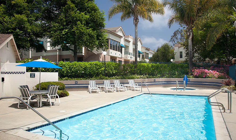 Resort Style Swimming Pool at Cypress Meadows Senior Apartments in Ventura, CA