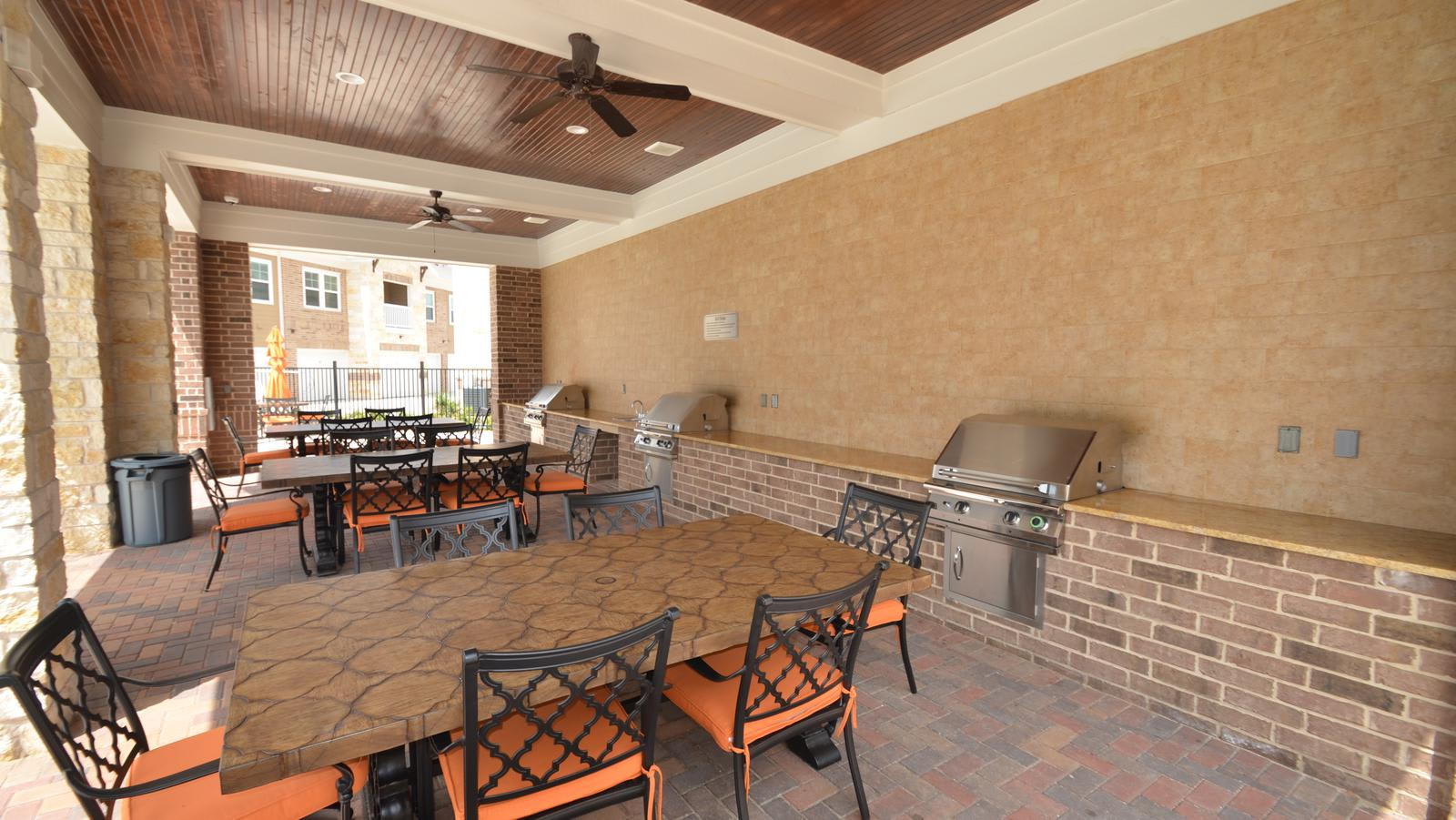 barbecue area at ParkLane Cypress in Cypress, TX