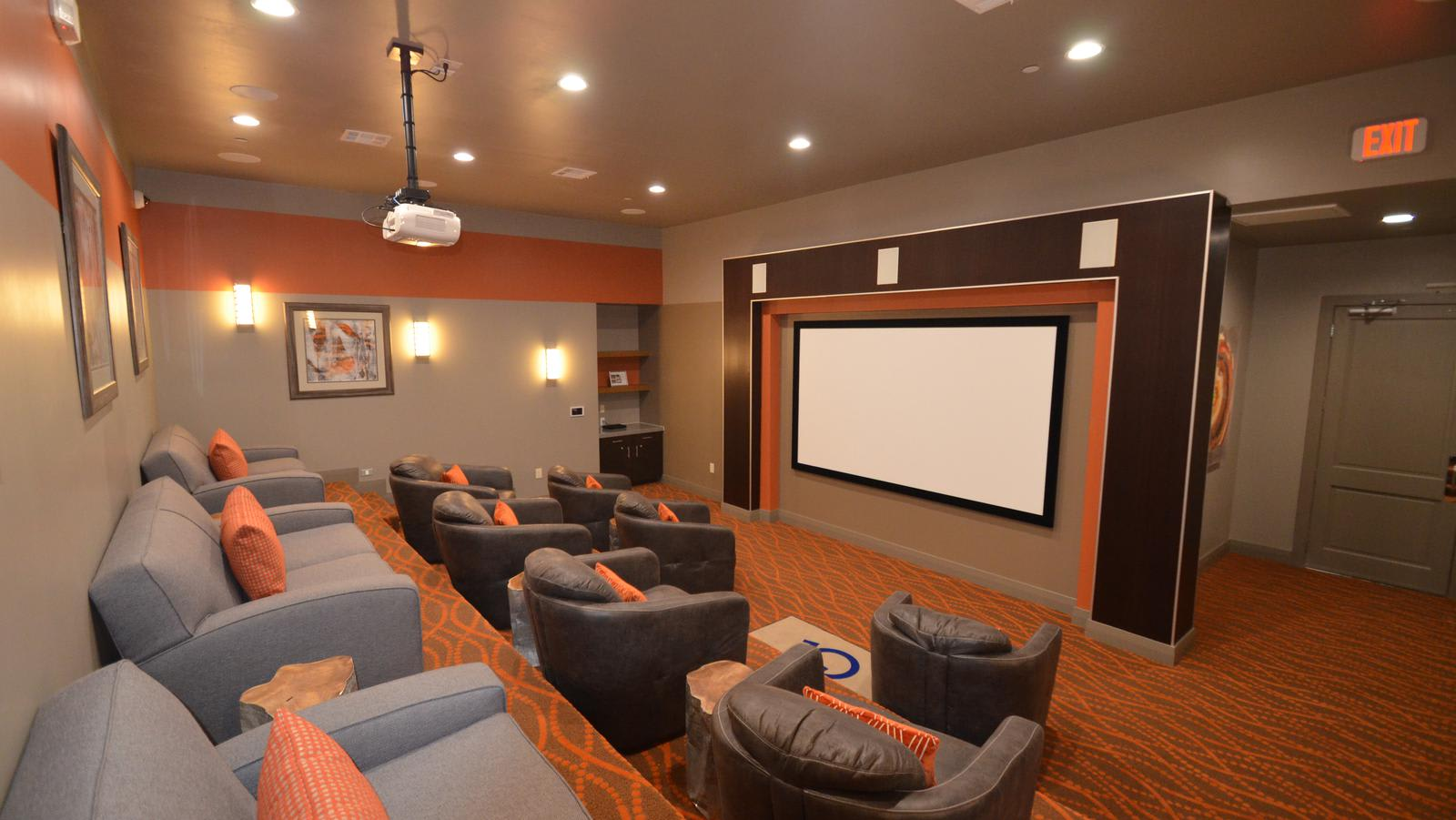 home cinema at ParkLane Cypress in Cypress, TX