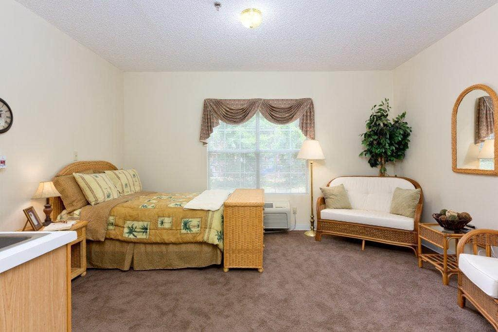 Memory Care Memory Care Model Room at Summer Breeze Senior Living in Savannah, GA