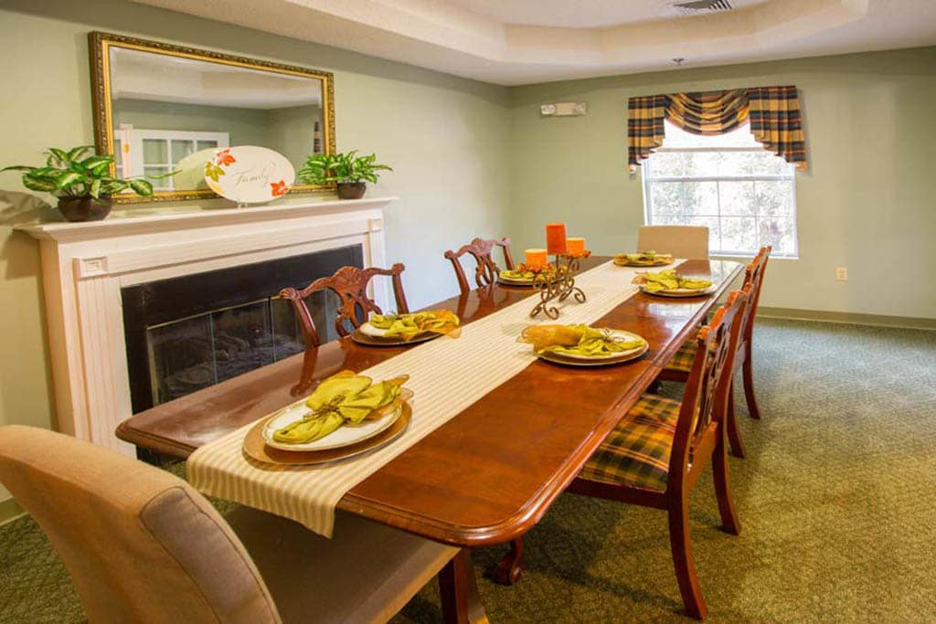 Private Dining Area at Summer Breeze Senior Living in Savannah, GA