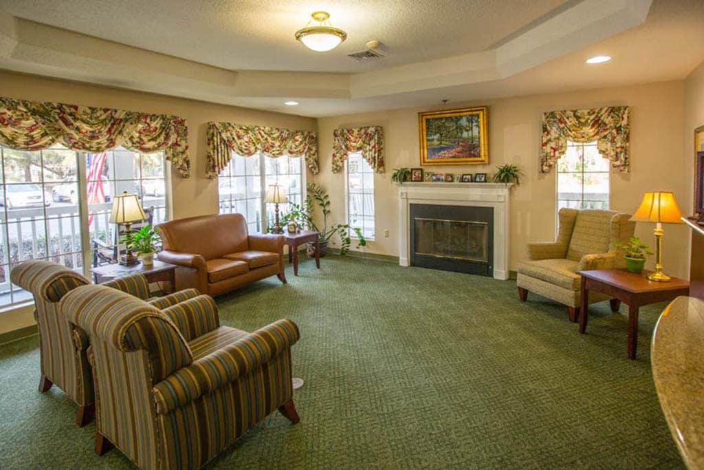Seating In The Lobby at Summer Breeze Senior Living in Savannah, GA