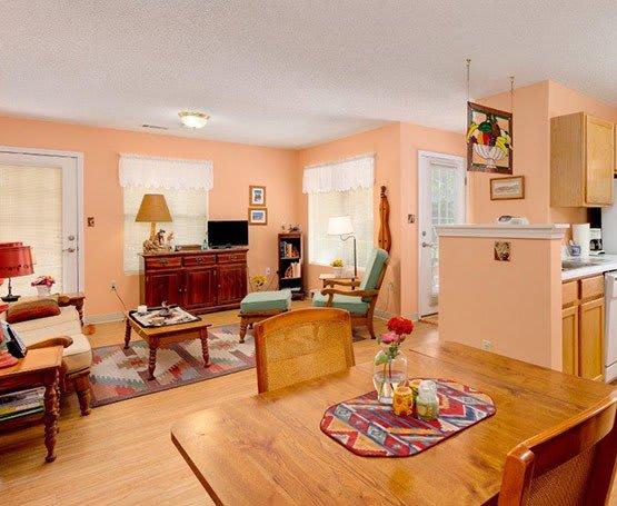 Suite interior at Summer Breeze Senior Living