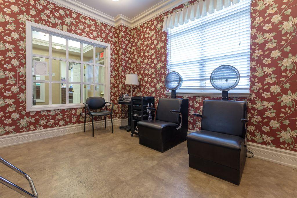 Beauty salon at Bear Creek Senior Living Community