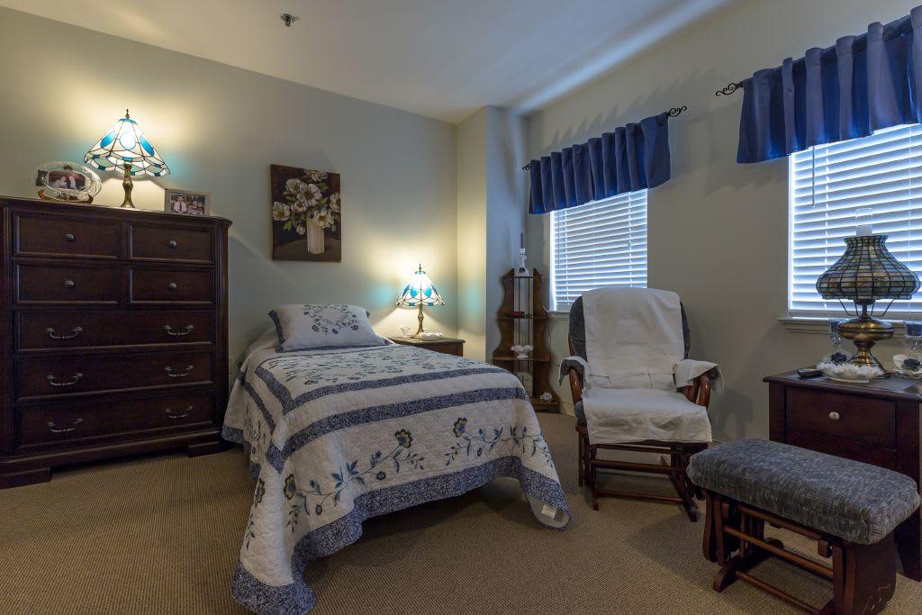 Bedroom at Bear Creek Senior Living Community