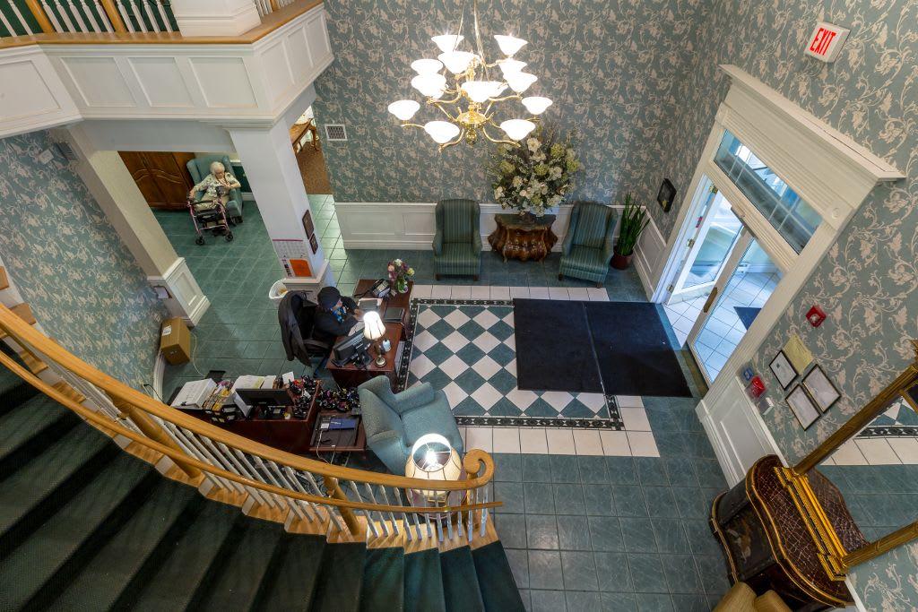 Lobby at Bear Creek Senior Living Community