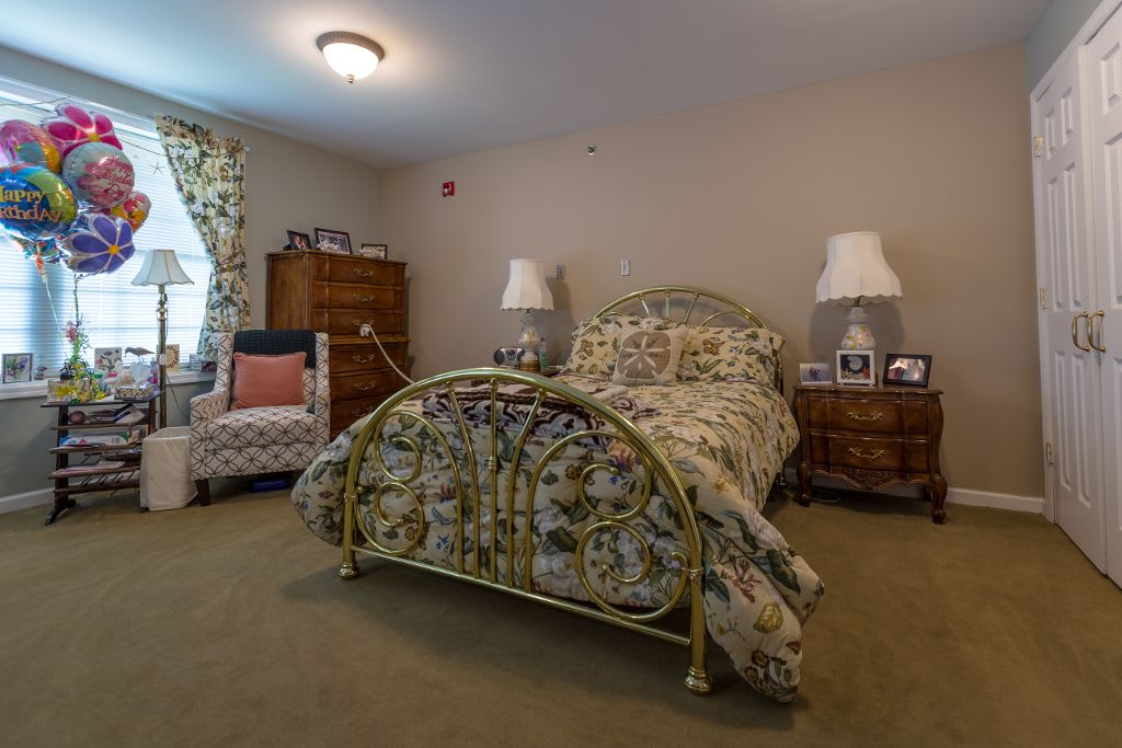 Bedroom at Bentley Assisted Living at Branchville