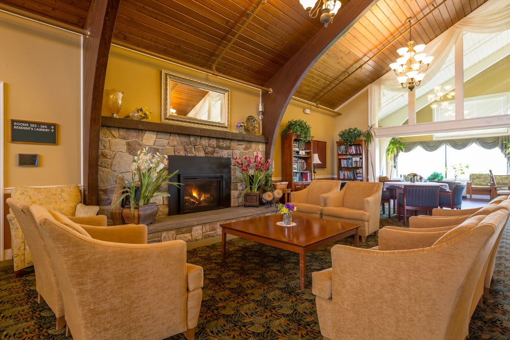 Living room at Bentley Assisted Living at Branchville