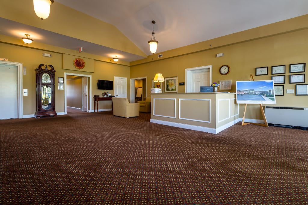 Lobby at Bentley Assisted Living at Branchville