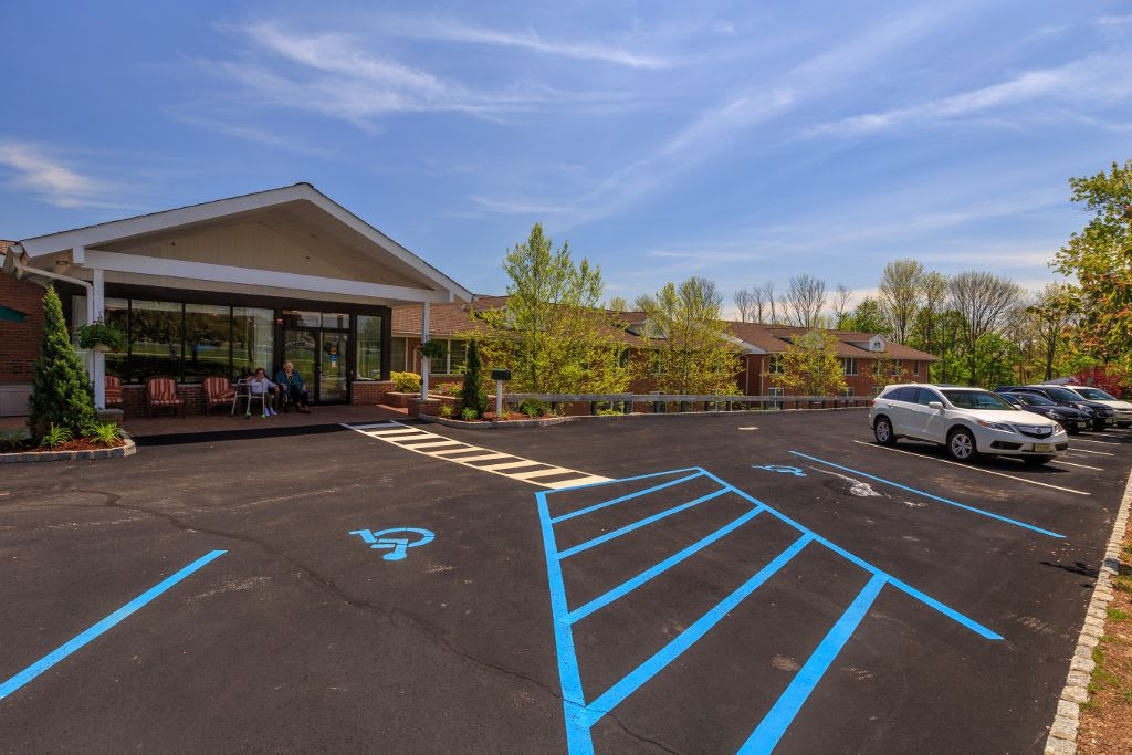 Parking at Bentley Assisted Living at Branchville
