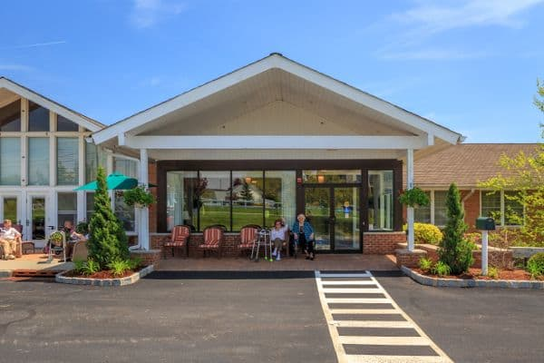 Entrance at Bentley Assisted Living at Branchville