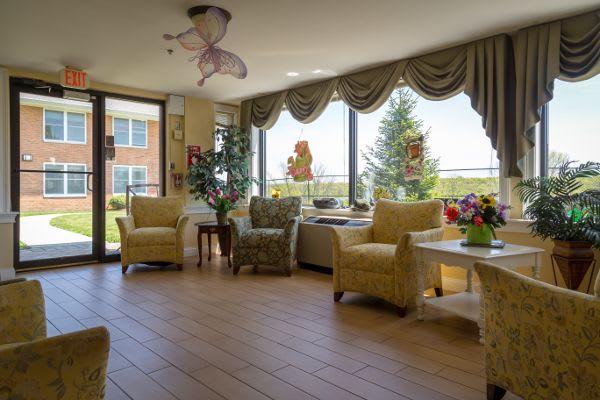 Livig room at Bentley Assisted Living at Branchville