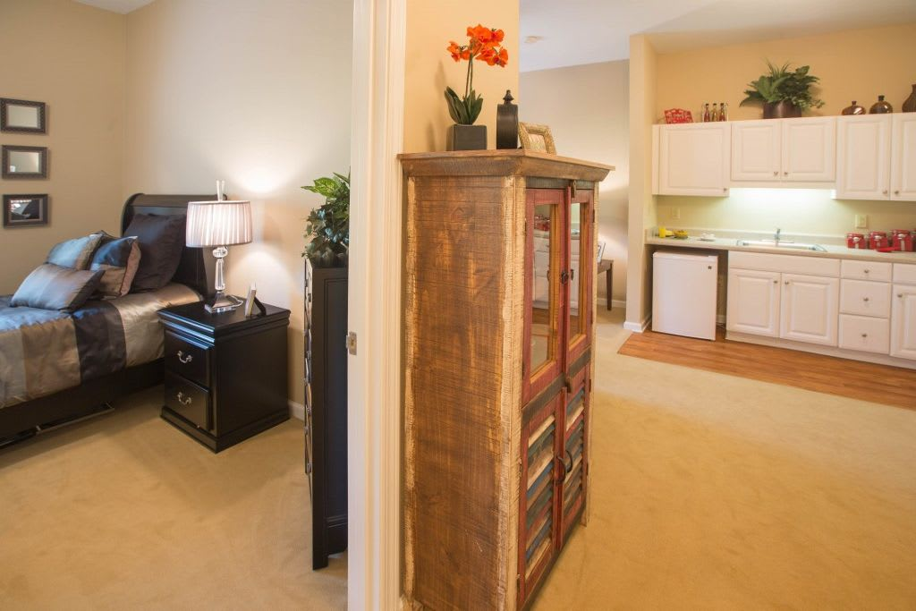 Interior apartment at Bentley Assisted Living at Northminster