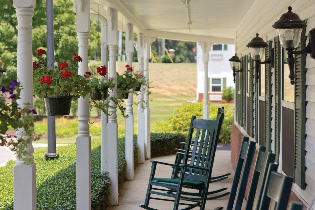 Porch at Bentley Assisted Living at Northminster