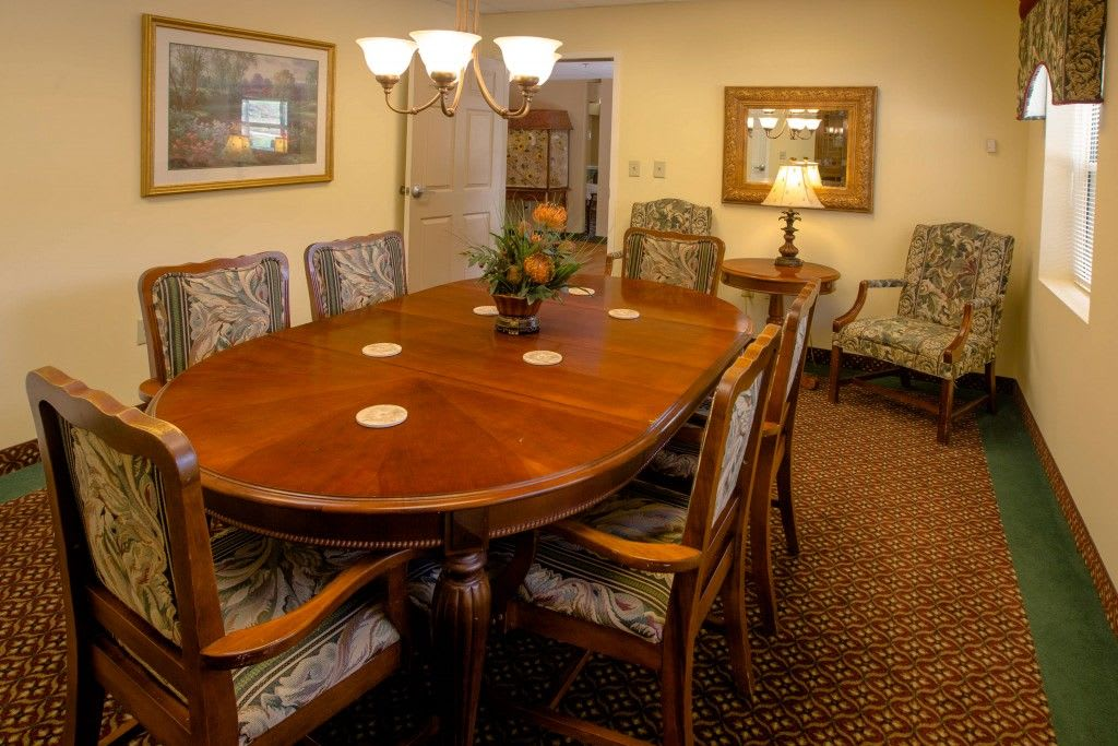 Private dining room at Bentley Assisted Living at Northminster