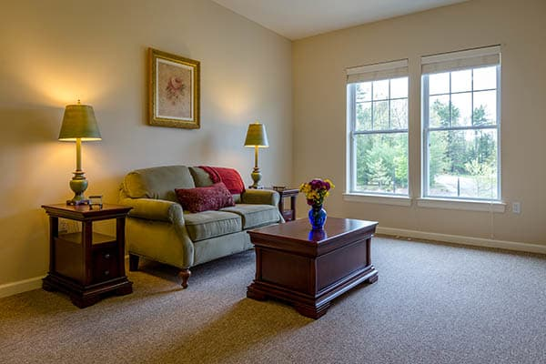 Comfortable living spaces at Bentley Commons at Bedford