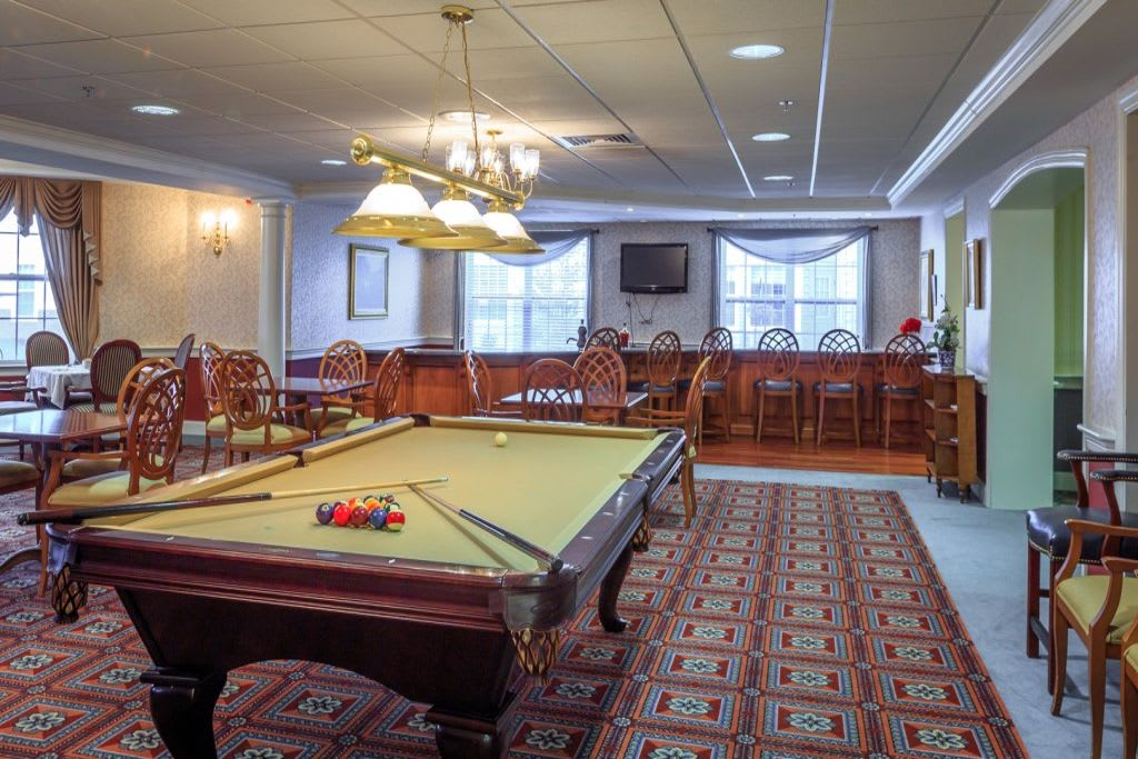Game room at Bentley Commons at Lynchburg in Virginia