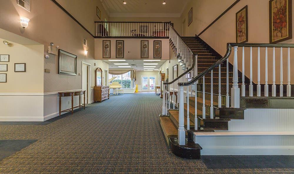 Staircase To Second Floor at Ivystone Senior Living in Pennsauken, NJ