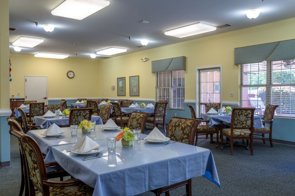 Dining room at Merryvale Assisted Living