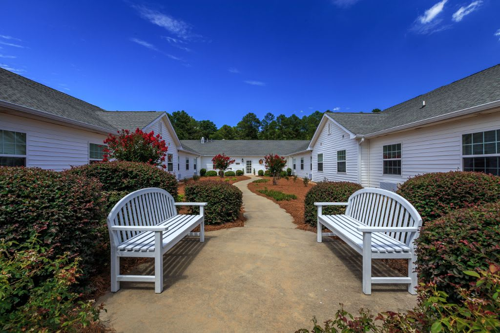 Comfortable yards at Merryvale Assisted Living