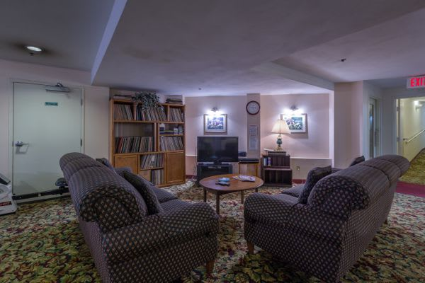 Living room at Saranac Village at Will Rogers