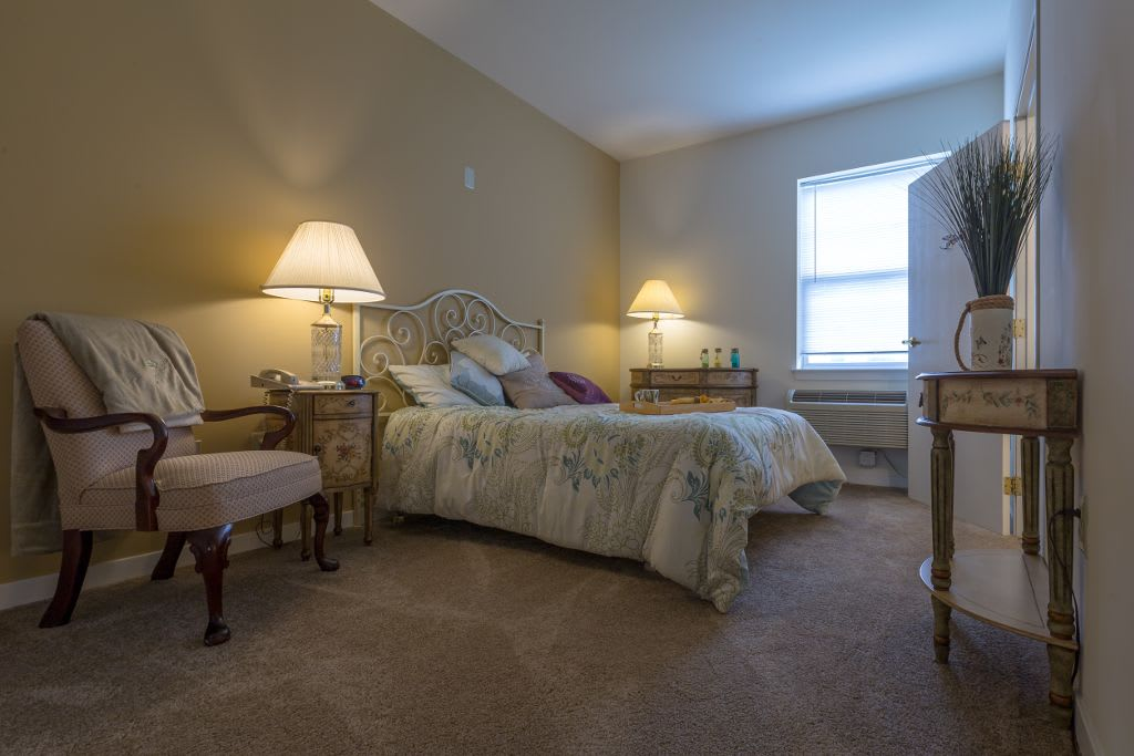 Bedroom at The Brookside Assisted Living Community