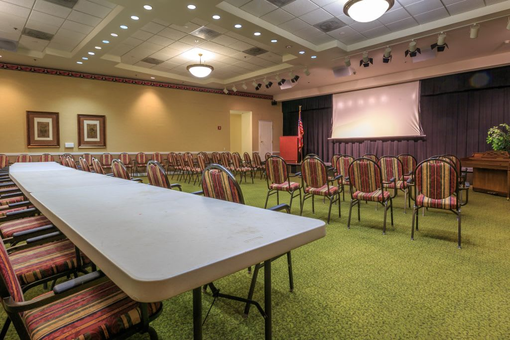 Events room at The Brookside Assisted Living Community