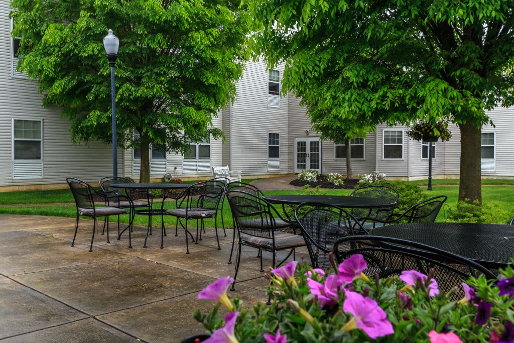 Exterior living space at The Brookside Assisted Living Community