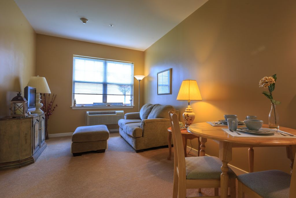 Interior apartment at The Brookside Assisted Living Community
