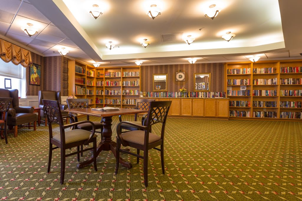 Study room at The Brookside Assisted Living Community