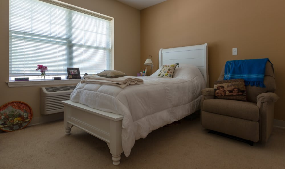 Bedroom at All American Assisted Living at Hanson