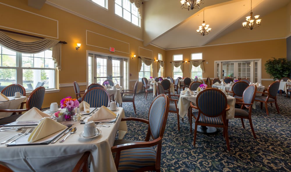 Dining room at All American Assisted Living at Hanson