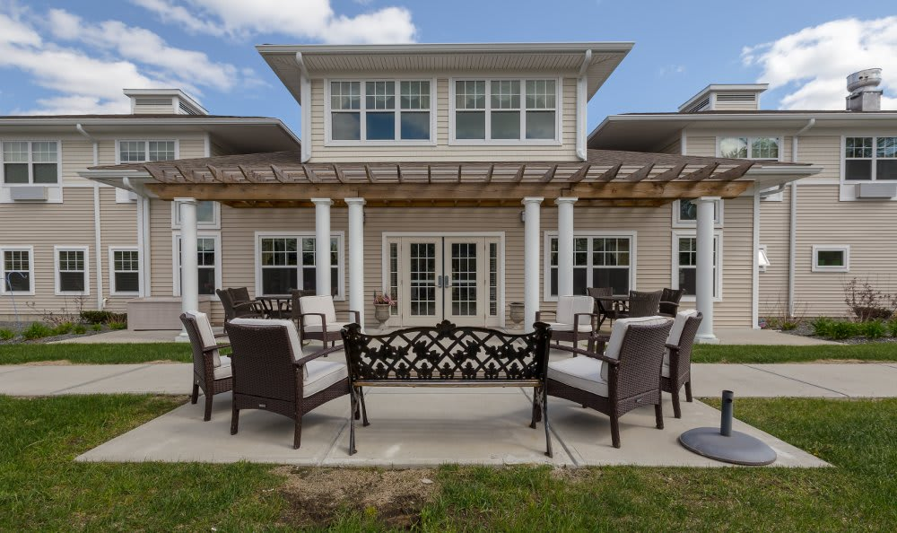 Exterior amenities at All American Assisted Living at Hanson
