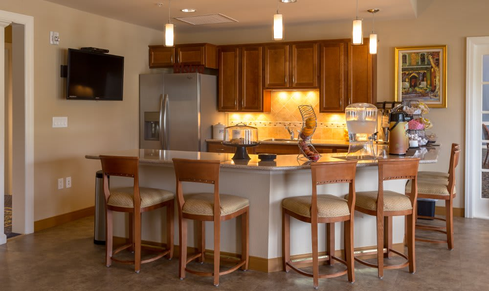 Kitchen area at All American Assisted Living at Hanson