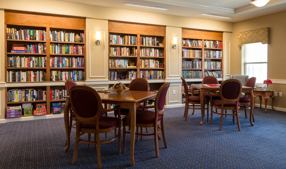 Library at All American Assisted Living at Hanson