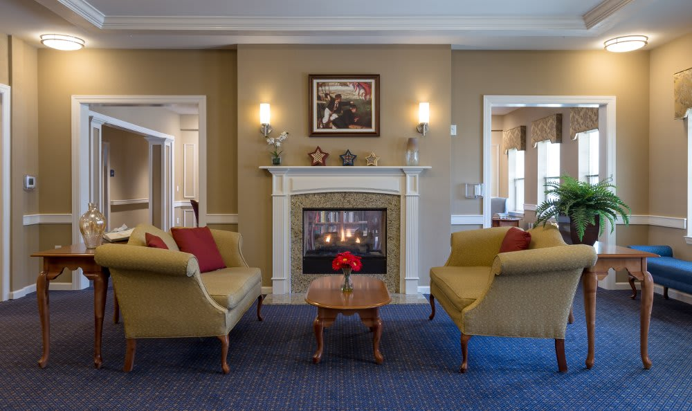 All American Assisted Living at Hanson living room