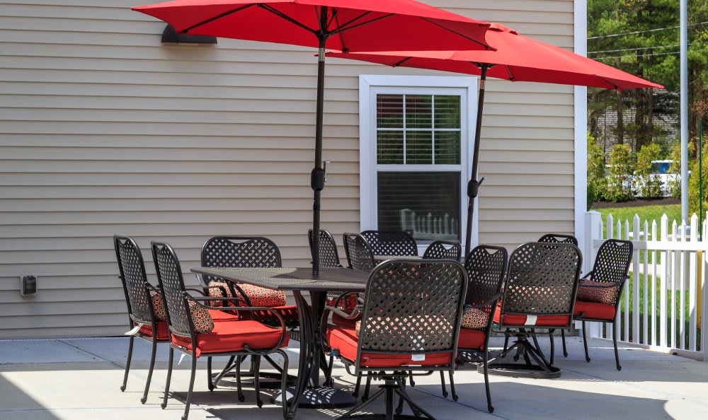 Patio at All American Assisted Living at Hanson