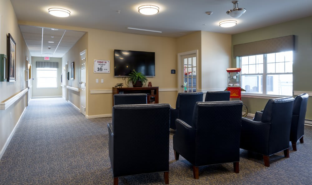 Spacious living room at All American Assisted Living at Hanson